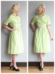 1960s Dress // Summer Sage Dress // vintage 60s by dethrosevintage