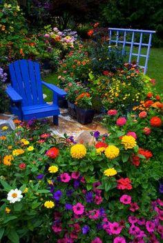 Flower Garden Ideas in front of House_06