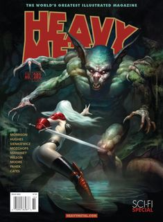 "Hey guys, I'm submitting another design for the ""Heavy Metal"" magazine cover art contest. Fille Heavy Metal, Arte Heavy Metal, Heavy Metal Comic, Metal Magazine, Magazine Art, Arte Tribal, Fantasy Comics, Sword And Sorcery, Metal Artwork"