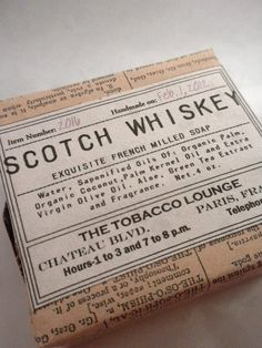 Number 2016 SCOTCH WHISKEY Soap For Men  Rustic Scent Woodshop  Men Will Swoon For This  Father  Brother  Uncle  Grandfather Son. $8.00, via Etsy.