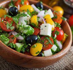 Gurken Feta Tomaten Salat