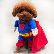 Yeni lovely pet kedi köpek superman giysi kostüm suit, Köpek kıyafet giyim tulum giyim köpekler için ücretsiz kargo 1(China (Mainland))