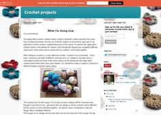 Crochet blog what I am making in May. Crochet squares to make a cushion for my cottage