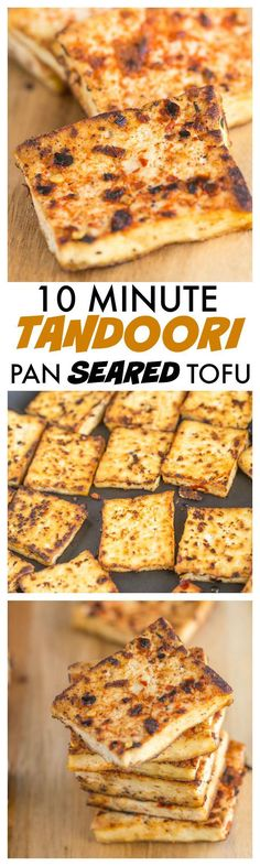 Easy Tandoori Pan Seared Tofu which takes 10 minutes and is a delicious, quick and easy weeknight dinner or lunch- It freezes beautifully too!