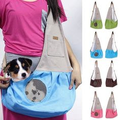 $14.28 - Pet Dog Cat Supplies Carrier Travel Sling Bag Puppy Canvas Messenger Bag #ebay #Home & Garden