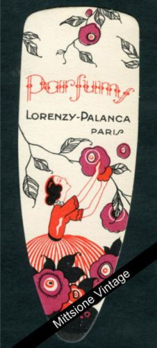 Antique French Perfume Card Soap Label Vintage Art Deco Lorenzy Palanca Paris | eBay--$10