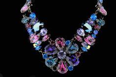 Swarovski Crystal NECKLACES | Large Flower - Crystal Swarovski Necklace - Jewellery Necklace