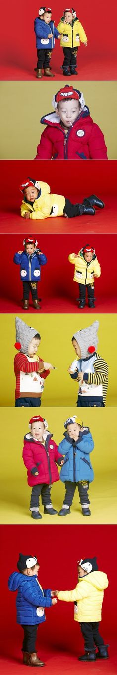 "Twins Suh Un and Suh Joon Look Cute In Their Photoshoot with ""allo&lugh"" Superman Kids, Superman Family, Little Star, Little Ones, Baby Corner, Cute Twins, Korean Entertainment, Precious Children, Baby Kids"