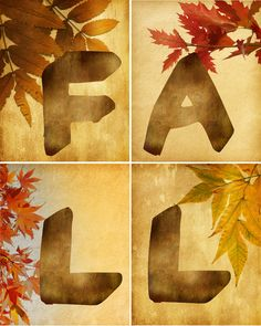 Fall Leaf Wall Art {free printables} Fall Halloween, Halloween Crafts, Project Life, Scrapbooking, Autumn Decorating, Decorating Ideas, Leaf Wall Art, Happy Fall Y'all, Fall Crafts