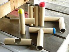 紙管による構造体製作のための習作 継ぎ手と組み手 (C)FQ DESIGN/OKUDA