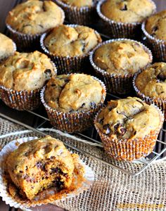 Pumpkin Spice Chocolate Chunk Muffins been looking for a recipe !!
