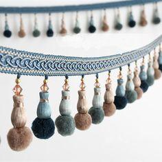 Lüks 6 m/grup 10 cm geniş pompon toplar perde dantel aksesuarları püskül saçaklar perde kanepe için trim şerit diy dikiş ev dekor
