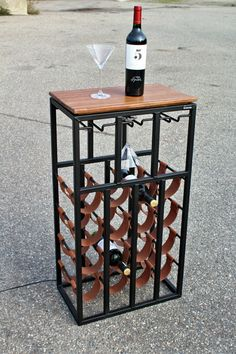 Made with leather, steel, wood and led lights Wine Glass Rack, Wine Rack, Home Decor Styles, Diy Home Decor, Vintage Industrial Furniture, Wine Decor, Wine Storage, Bars For Home, Caves