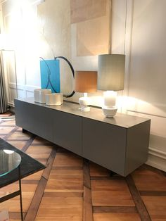 modern design furniture meets period style nex sideboard in a beautiful muted colour fits perfectly
