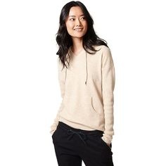 Tommy Hilfiger Ianna Hoodie ($150) ❤ liked on Polyvore featuring tops, hoodies, pink hooded sweatshirt, cashmere hoodies, tommy hilfiger tops, sweatshirt hoodies and tommy hilfiger hoodies