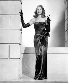 Rita Hayworths infamous Gilda dress. Jacques Fath creation.