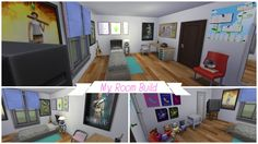 I BUILT MY ROOM!!! - Sims 4 Room Build #1 My Room, Sims 4, Office Desk, Corner Desk, Geek, Building, Furniture, Home Decor, Corner Table