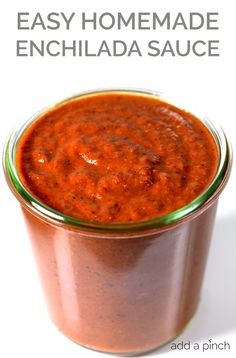 Enchilada Sauce Recipe - Enchilada sauce makes a staple ingredient to keep on hand for quick meals. Get this family-favorite homemade enchilada sauce recipe.