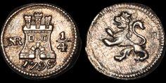 E-Auction 40 Lot 175 | Davissons Ltd Lots For Sale, World Coins, Spanish Colonial, Ferdinand, Castle, Auction, Castles, Spanish Revival