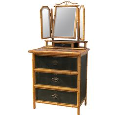 French Faux Bamboo Dressing Table