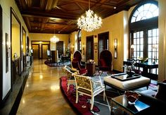 The Raphael Hotel lobby in Kansas City  Great Place to Stay in KC! Anxious to go here, again!