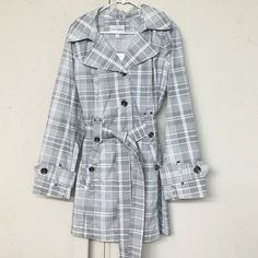 ‼️Coat Gorgeous weather proof, button up pea coat. Tie belt with pockets. Extremely flattering for all figures. New with tags size extra-large Jackets & Coats