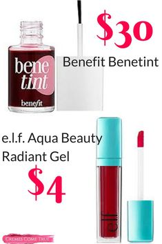 elf Aqua Beauty Radiant Gel Lip Stain - Cremes Come True Mac Mehr, Beauty Tips For Skin, Beauty Secrets, Beauty Products, Makeup Products, Natural Beauty, Beauty Blogs, Free Products, Beauty Tricks