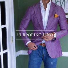Stay cool and stand out in this boldly colored Estuniga Sort Coat.  Also stay tuned for the fall collection and our new measuring software!  Shop this blazer now:  http://www.estuniga.com/collections/sport-coats/products/purpurino-linen-sport-coat