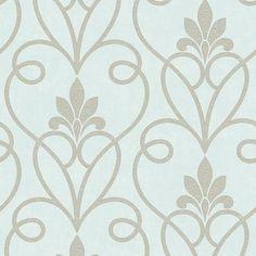 Fine Decor Tuscany Damask Wallpaper Mint / Silver - Fine Decor from I love wallpaper UK