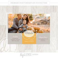 Herbst-MINI-Sitzung-Vorlage - Marketing Board, sofortiger Download, Fotograf, Herbst, Blog-Board, Psd, Fotografie-Vorlage, Frame Scrollen