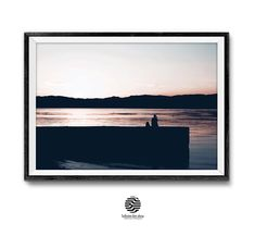 Beach Sunset Meditation,Ohrid Lake Sunset Print,Silhouette,Relaxation,Printable. | Infinite Art Shop #sunsetwallart #coastalprint #meditation #ohridlakeprint #silhouette #lakeprint #beach #color #horizontal #digitaldownload #livingroomdecor #printablewalldecor #mitkoperoskiphotography #infiniteartshop #