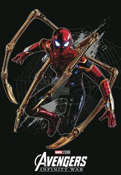 Iron Spider-Man, Avengers Infinity War Marvel Art, Marvel Dc Comics, Marvel Heroes, Marvel Movies, Ms Marvel, Captain Marvel, Spiderman Art, Amazing Spiderman, The Avengers