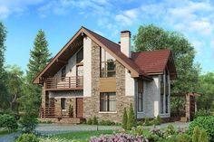 Проект жилой дом #57-00D материал - кирпич, стиль современный Cabin, House Styles, Projects, Home Decor, House, Log Projects, Blue Prints, Decoration Home, Room Decor