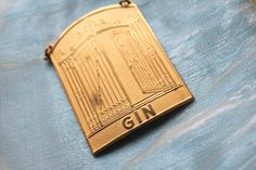Swedish Crafted Decanter Label for Gin. Wrought Iron Gate Designs, Art Deco Bar, Jazz Age, Makers Mark, Decanter, Gin, Scandinavian, Label, Club
