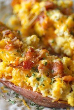 Dashing Dish: 5 Ingredient Breakfast Stuffed Sweet Potatoes
