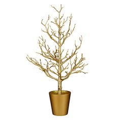 Buy John Lewis Ostravia Potted Twig Tree, Gold Online at johnlewis.com