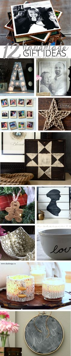 12 Handmade Gift Ideas - http://akadesign.ca/12-handmade-gift-ideas/