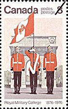 Canadian Postal Archives Database    Postal Administration: Canada     Title: Colour Party - Royal Military College of Canada    Denomination: 8¢     Date of Issue: 1 June 1976