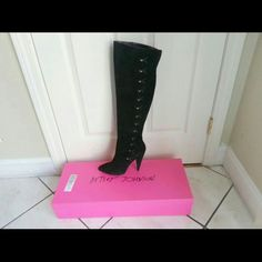 Betsey Johnson Suede Boots. Excellent Condition. Betsey Johnson Aleccia Suede Black Boots. Betsey Johnson Shoes