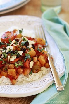 Slow Cooker Moroccan Vegetable and Chickpea Stew