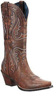 Ariat® Women's Sassy Brown Heritage X-Toe Western Boots -- I want these so bad I can't stand it!