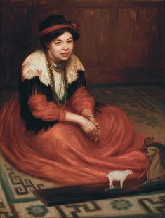 Portrait of Pixie by Alphaeus Cole. from the private collection of Stuart R Kaplan