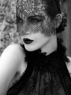 Lace mask.