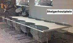 tafel vergader 2 grote middenpoten