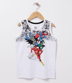 Camiseta infantil  Sem manga  Gola redonda  Com estampa  Marca: DC Comics  Tecido: meia malha       COLEÇÃO VERÃO 2017     Veja outras opções de    camisetas infantis.