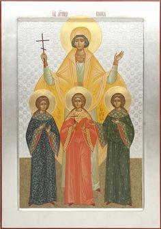 St. Sophia & her daughters: Faith, Hope & Love