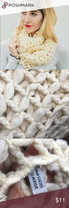 Ivory cage infinity scarf 泥 Ivory cage infinity scarf 泥   Thank you for looking and please check out the rest of my closet.  1b Accessories Scarves & Wraps