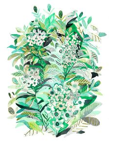 Wild Roses  Archival Print by unitedthread on Etsy, $20.00. Want this one for the bedroom. :)