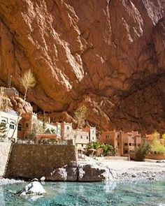 Todgha Gorge, a canyon in the eastern part of Morocco's High Atlas Mountains