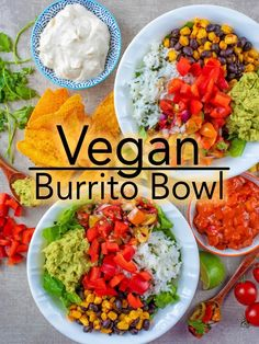 This vegan burrito bowl is packed with spices and flavour, but super simple to make in under 20 minutes. We truly believe that Mexican food doesn't have to be covered in cheese and filled with meat to be delicious and it can also be healthy too - this vegan burrito bowl certainly proves that. via @hhhdannii